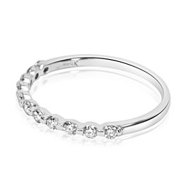 Verragio Single Prong Diamond Wedding Band in 18K White Gold