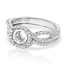 Simon G Twisted Engagement Ring Wedding Set in 18K White Gold