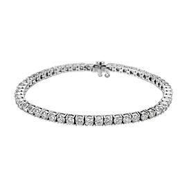 Diamond Tennis Bracelet in 14KT White Gold 6.50ctw