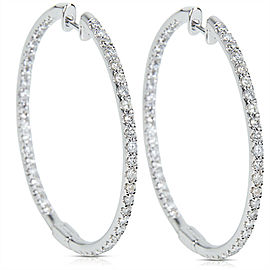 Diamond Hoop Earrings in 14K White Gold (2.00 CTW)