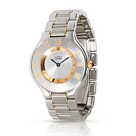 Cartier Must de Cartier 21 1330 Women's Watch in Stainless Steel/Gold Plate