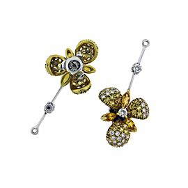 Stefan Hafner diamond and citrine studs earrings jacket / charm
