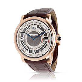 Cartier Rotonde Annual Calendar W1580001 Men's Watch in 18kt Rose Gold