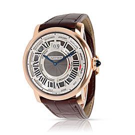 Cartier Rotonde Annual Calendar W1580001 Men's Watch in 18kt Rose Gold