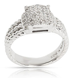David Yurman Petite Wheaton Diamond Ring in Sterling Silver 0.37 CTW