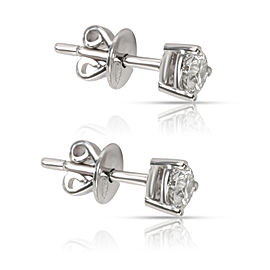 GIA Certified Diamond Stud Earrings in Platinum F VS2 0.62 CTW