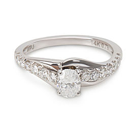 Diamond Engagement Ring in 14K White Gold (0.78 CTW)