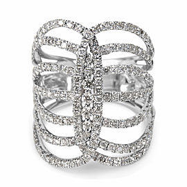 Interlocking Rib Diamond Ring in 14K White Gold (2.00 CTW)