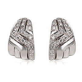 14KT White Gold Diamond Clip Earrings in 18KT White Gold 1.70 ctw