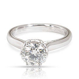 IGI Certified Verragio Diamond Engagement Ring in 18K White Gold I VVS2 1.11 CTW