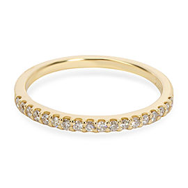 Micro Pave Diamond Band in 14K Yellow Gold 0.18 CTW