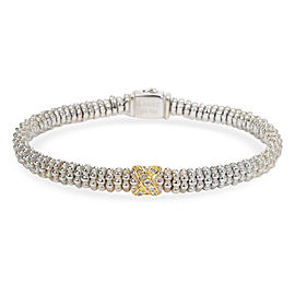 Lagos Diamond X Bracelet in 18K Yellow Gold & Sterling Silver (0.07 CTW)