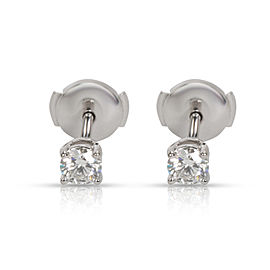 Tiffany & Co. Diamond Stud Earring in Platinum J VVS1 0.5 CTW