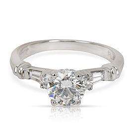 GIA Certified Scott K Diamond Engagement Ring in Platinum (0.85 ct F/SI2)