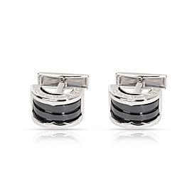 Bulgari B.zero1 Black Ceramic Cufflinks in Sterling Silver