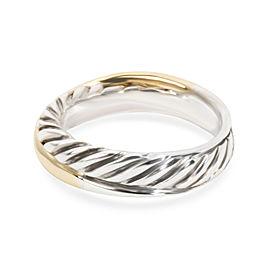 David Yurman Cable Crossover Ring in 18K Yellow Gold & Sterling Silver