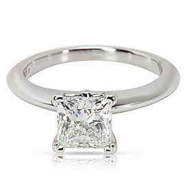 Tiffany & Co. Diamond Princess Cut Engagement Ring in Platinum (0.91 ct G/VS1)