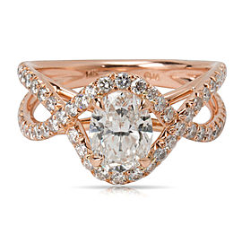 James Allen Oval Diamond Engagement Ring in 14K Rose Gold (2.65 CTW)