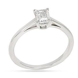 Cartier Emerald Cut Engagement Ring in Platinum (0.55 CTW)