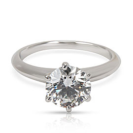 Tiffany & Co. Diamond Engagement Ring in Platinum E VVS1 1.69 CTW