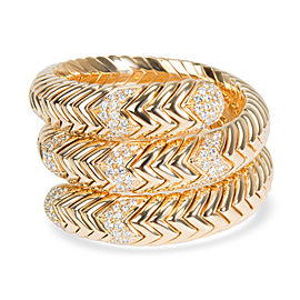 Bulgari Spiga Wrap Diamond Bracelet in 18K Yellow Gold 3.5 CTW