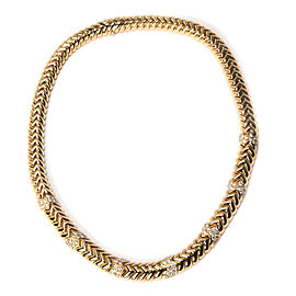 Bulgari Spiga Diamond Necklace in 18K Yellow Gold 4.00 CTW