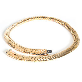 Bulgari Spiga Diamond Necklace in 18K Yellow Gold 4.00 CTW