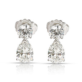 Tiffany & Co. Diamond Teardrop Earring in Platinum GIA Certified 6.69 CTW