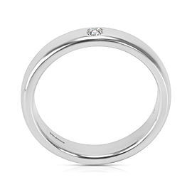 Tiffany & Co. Platinum Classic Lucida Wedding Ring in Platinum 0.03 ctw
