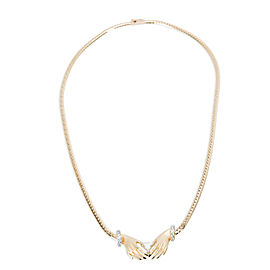 Carrera y Carrera Textured Hand Diamond Necklace in 18K Yellow Gold 0.8 CTW