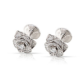 Piaget Rose Diamond Earrings in 18K White Gold 0.45 CTW