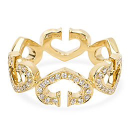 Cartier C Hearts of Cartier Diamond Ring in 18K Yellow Gold 0.6 CTW
