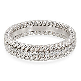 Tiffany & Co. Schlumberger Rope Diamond Eternity Band in Platinum 0.29 CTW
