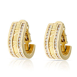 Tiffany & Co. Atlas Numeric Diamond Earrings in 18K Yellow Gold 1.6 CTW