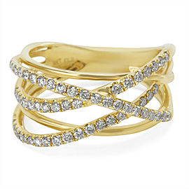 Crossover Diamond Ring in 14K Yellow Gold (0.50 CTW)