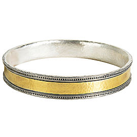 Gurhan Bangle Bracelet in 24K Yellow Gold and Sterling Silver MSRP 1,995
