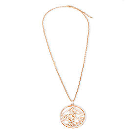 Repossi Pave Diamond Circle Pendant in 18K Rose Gold 2.9 CTW