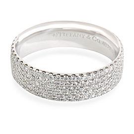 Tiffany & Co. 5 Row Metro Diamond Band in 18K White Gold 1.3 CTW