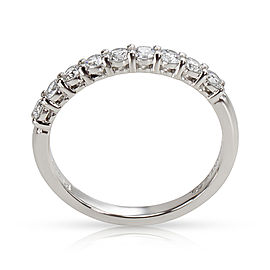 Platinum Tiffany & Co. Embrace Band Ring (9 Diamonds 0.27cts)