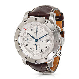 Longines Weems Chronograoh L2.741.4.73.2 Men's Watch in Stainless Steel