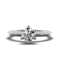 1.20+ Ct LabGrown Real Diamond Engagement Ring Tiffany's Band Round D Color SI1