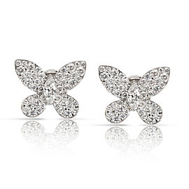 Graff Butterfly Diamond Earrings in 18K White Gold 2.75 CTW