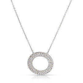 Tiffany & Co. Pave Diamond Circle Necklace in 18K White Gold 0.7 CTW