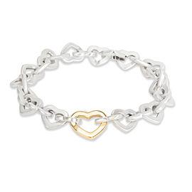 Tiffany & Co. Open Heart Links Bracelet in 18K Yellow Gold/Sterling Silver