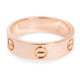 Cartier Love Band in 18K Size 58 5.5mm Rose Gold