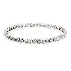 Semi-Bezel Diamond Tennis Bracelet in 14K White Gold 7.00 CTW