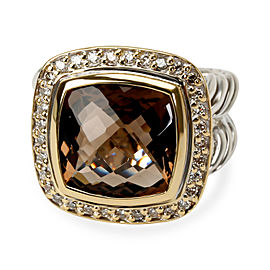 David Yurman Smoky Quartz & Diamond Albion Ring in Sterling Silver