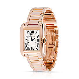 Cartier Tank Anglaise W5310013 Women's Watch in 18kt Rose Gold