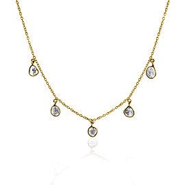 Rock & Divine Solar Eclipse Diamond Necklace in 18K Yellow Gold F VS2 0.90 ctw