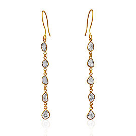 Rock & Divine Diamond Drop Dawn Earrings in 18K Yellow Gold F VS2 1.50CTW